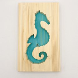 Cadre Hippocampe Turquoise